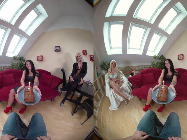 VR: Feuchte Geburtstagswünsche von Lesben erfüllt