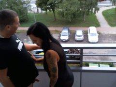 Quickie aufn Balkon